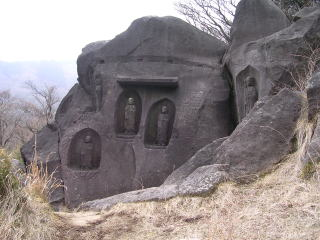 The stone Buddhist image(Japan)